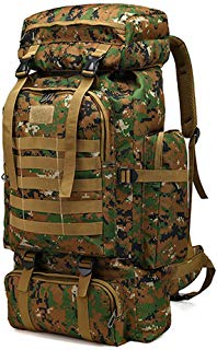 WintMing 70L Camping Hiking Backpack Molle Rucksack