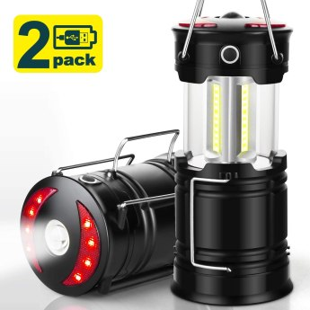 Rechargeable Led Lanterns, Hurricane Lights with Flashlight and Magnet Base for Camping, Hurricane, Hiking, Emergency, Outage