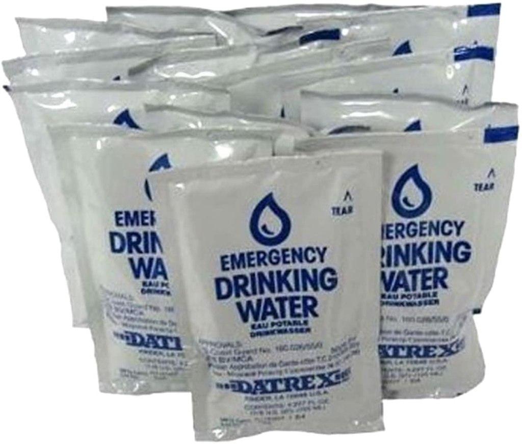 Datrex Emergency water for emergency food kits