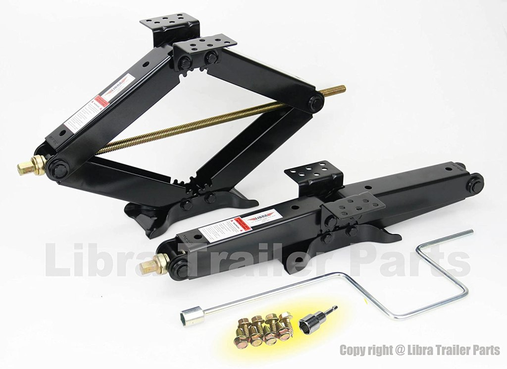 "LIBRA Set of 4 5000 lb 24"" RV Trailer Stabilizer Leveling Scissor Jacks"