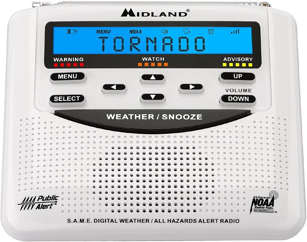 Midland - WR120B/WR120EZ - NOAA Emergency Weather Alert Radio emergency preparedness kit