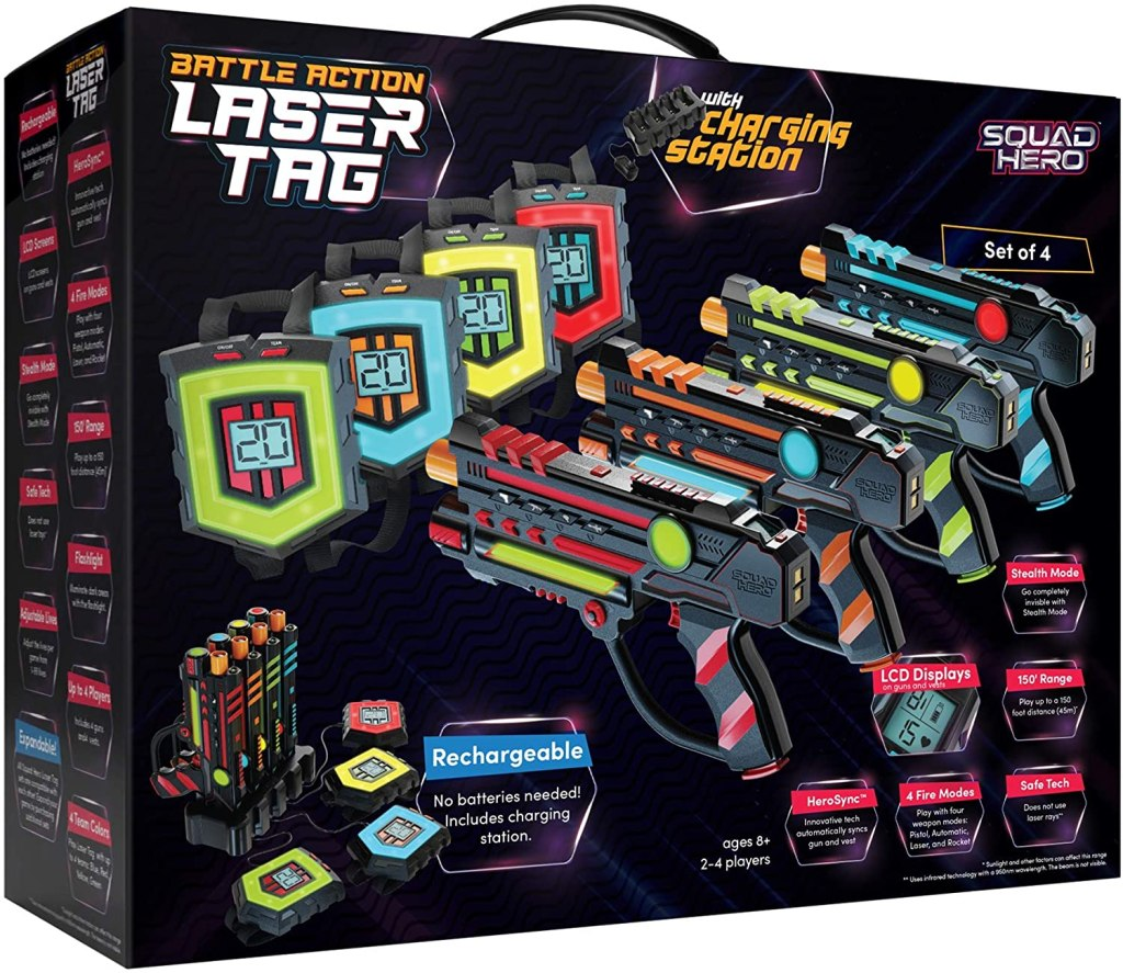 Rechargeable Laser Tag Set things to do with kids while camping