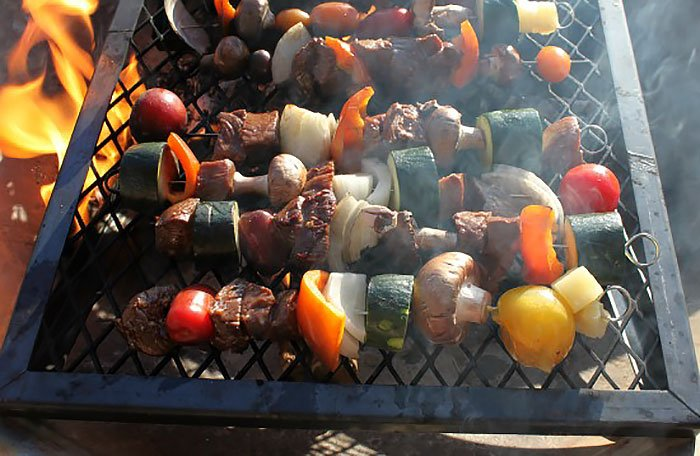 campfire beef kebab recipe