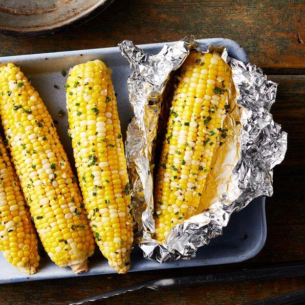 garlic butter campfire corn recipe